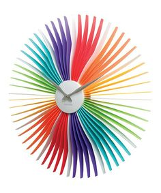 Love this Rainbow Oopsy Daisy Wall Clock by Karlsson by Present Time on #zulily! #zulilyfinds