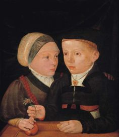 Portrait of a brother and a sister, 1540-1541 by  Jakob Seisenegger