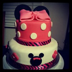 Mini mouse cake for baby shower.  My first one.