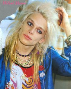 Michael Monroe (Matti Antero Kristian Fagerholm) b. 1962 Helsinki Finland -- Hanoi Rock and so finnish... I like...