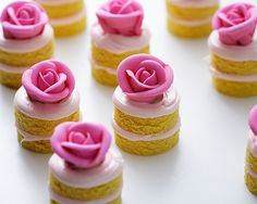 mini individual confetti royal icing pink rose birthday cakes how to Cakegirls