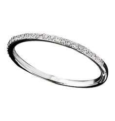 Avon: Sterling Silver CZ Pavé Band Ring