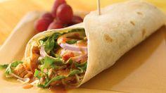 around 470 calories but I still want to try it: Peanut sauce and curry paste add an Asian flair to chicken tacos.
