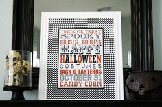free printable halloween subway art!