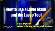 #Pixlr: Lasso tool. This video uses the Lasso tool and layer masks to create a collage and then adds text and text styles (drop shadows and outer glow) and the Colour Picker tool for emphasis. Pixlr Power: www.udemy.com/pixlr-power #tutorials  #photoediting