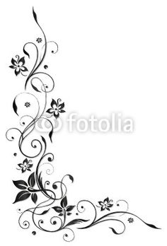 Illustration of Black flowers illustration, tribal tattoo style vector art, clipart and stock vectors. Vine Tattoos, Small Tattoos, Sleeve Tattoos, Flower Tattoo Designs, Flower Tattoos, Flower Designs, Little Heart Tattoos, Black Flowers, Floral Border