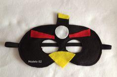 Arte Mimos e Dengos: Máscara em feltro Angry Birds 01