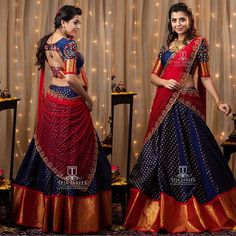 "Happy client ""Gouthami "" in our Anarkhali paired with a kanjeevram duppata. Lehenga Choli Designs, Pattu Saree Blouse Designs, Bridal Blouse Designs, Half Saree Lehenga, Saree Look, Saree Dress, Lehenga Blouse, Frock Design, Half Saree Function"