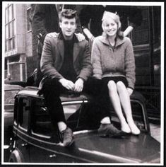 John Lennon and first wife Cynthia Powell Lennon.  Their marriage broke down in 1968.