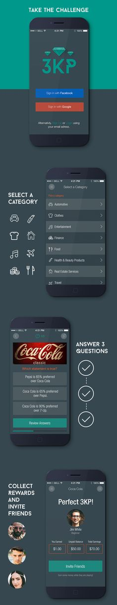 Quiz App Design by Barbara, via Behance