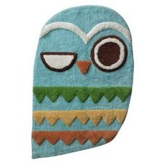 #10: Give a Hoot OWL Accent RUG Retro Mat Bathroom Decor