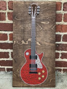 Electric Guitar String Art - New Ideas Diy And Crafts, Arts And Crafts, Paper Crafts, Resin Crafts, String Art Diy, String Art Patterns, Doily Patterns, Dress Patterns, Thread Art