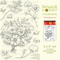 Countryside Bouquet Deluxe   Power Poppy by Marcella Hawley
