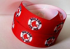 """NY Yankees  5//8/"""" wide grosgrain ribbon the listing is for 5 yards"""