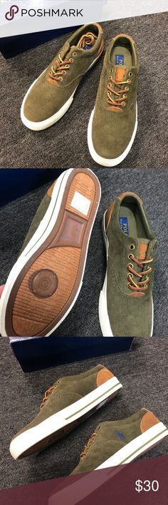 13d1e301 Polo Vaughn Corduroy Olive Men's Sneakers Brand new with box. Polo by Ralph  Lauren Shoes Sneakers