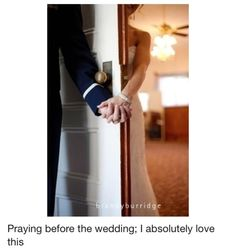 Prayer before the wedding. So beautiful.