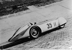 Mercedes Streamliner car of Rudolf Caracciola in the Avusrennen race, Berlin, Germany, Both Mercedes and Auto-Union raced streamliner cars based on their speed record vehicles at Avus in Get premium, high resolution news photos at Getty Images My Dream Car, Dream Cars, Le Mans, Grand Prix, Mercedes Benz, Classic Race Cars, Vintage Race Car, Vintage Auto, Vintage Images
