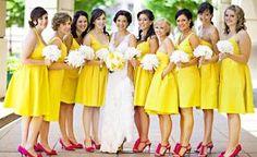 Mariage en jaune SO pétillant !