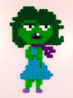 Disgust - Inside Out hama perler beads by Ewi Peq