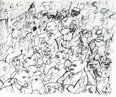 George Grosz: Strassencafe 1917 (Courtesy of Richard Nagy London) Paula Modersohn Becker, Hermann Hesse, Max Ernst, Heinrich Vogeler, Karl Hofer, Horst Janssen, Hans Thoma, George Grosz, Zen