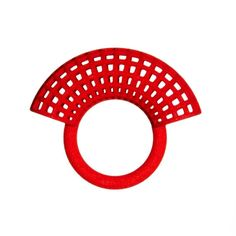 Mondrian ring in red 3d Printed Jewelry, Latest Jewellery, Mondrian, Contemporary Jewellery, Geometric Designs, Fashion Jewelry, Jewelry Design, Mesh, Symbols