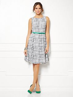 Shop Eva Mendes Collection - Riviera Dress - Plaid. Find your perfect size online at the best price at New York & Company.