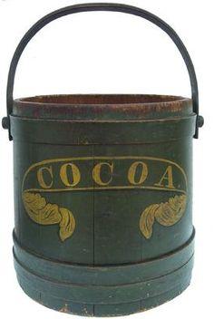 Fabulous stenciled cocoa bucket