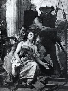Bildarchiv Foto Marburg , Berlin, Staatl. Mus. Giovanni Battista Tiepolo 1696-1770. Martyrium der Hl. Agatha - insieme