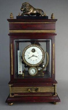 Gilt Bronze & Wood 8 Day Rolling Ball Clock