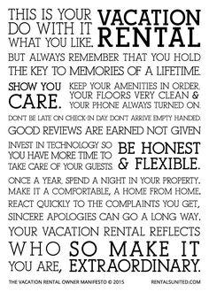 vacation rental owner manifesto