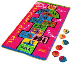 Hopscotch Mat By Saturnian 1 47 65 Includes Six Gripper Bean Bags