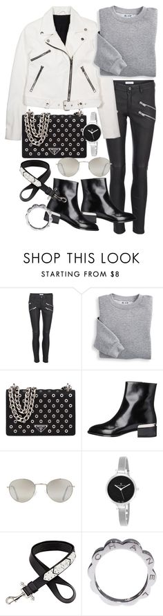 """Untitled #19827"" by florencia95 ❤ liked on Polyvore featuring Anine Bing, Kendall + Kylie, Blair, Prada, Vince, Forever 21, Christian Van Sant, Givenchy and Chanel"