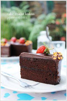 CAKE COKLAT KUKUS | jajane vivi My Recipes, Cake Recipes, Snack Recipes, Snacks, Resep Cake, Cake Cookies, Chocolate Cake, Food And Drink, Food Cakes