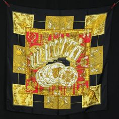 Authentic Hermes Scarf Le Tarot In Excellet Condition-$289.9900