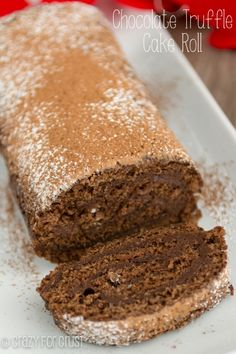 Chocolate Truffle Cake Roll | crazyforcrust.com