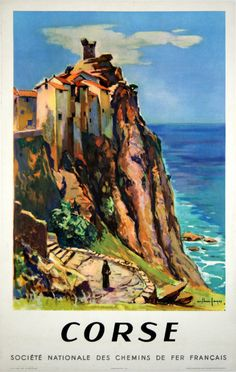 Corse, France ~ 1958 travel poster | Illustration by Arthur Pages