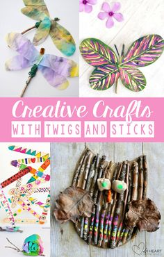 Creative Crafts with Sticks and Twigs - Easy Peasy and Fun ✍--- Visit our art's shop here ---✍ design photography inspiration packaging thinking ideas logo crafts advertising poster writing quotes business ads diy projects ilustration space drawings Twig Crafts, Nature Crafts, Craft Stick Crafts, Crafts To Do, Crafts For Kids, Arts And Crafts, Craft Sticks, Children Crafts, Art Children