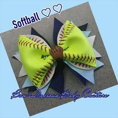 Shop for on Etsy, the place to express your creativity through the buying and selling of handmade and vintage goods. Softball Headbands, Softball Bows, Cheer Bows, Softball Stuff, Cheerleading, Kids Sports Party, Hey Batter Batter, Disney Hair Bows, Softball Hairstyles