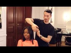 "THIS IS THE ONE - this tutorial saved me, after watching *hours* of video to achieve the waves my hairstylist did after cutting my new ""lob"" ...only difference is that I used a texturizing spray first and a wand to achieve the curls   Lived In Waves Hair Tutorial 