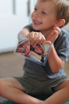 Homemade Photo Memory Game: FamilyFun Test Drive. Make a photographic memory game using pics of friends and family. #everydayfun @FamilyFunmag