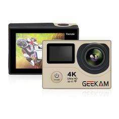 >> Click to Buy << GEEKAM H3R Mini Action Camera 4K wifi Ultra HD 4k/25FPS 1080P 60FPS 30M Hero 4 Style Waterproof Remote Video Camera Photo Cam #Affiliate
