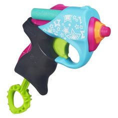 Nerf Rebelle Angel Aim Mini Blaster Nerf Rebelle  Great Nerf Gun for little girls, easy to use - seen 3 years olds use these well.       Stores dart on top    http://amzn.to/2zdVy7g
