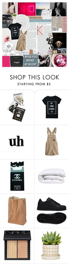 """""""homesick // #beautifulhalo #23"""" by jewell-e ❤ liked on Polyvore featuring Assouline Publishing, Chanel, Rosenthal, adidas, NARS Cosmetics, Piet Hein Eek, women's clothing, women, female and woman"""