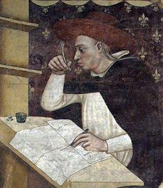 Tommaso da Modena - Ugo di Billom (1352). Detail.  Convent of San Nicolò, Treviso.   http://40.media.tumblr.com/df39c0fcf47f92b5dbc6b19cf56d015e/tumblr_noe15oyVSu1qe866ho1_1280.jpg
