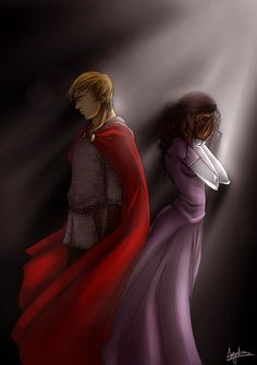 BBC Merlin makes me cry. BBC anything makes me cry. Merlin Series, Merlin Cast, Bbc Tv Series, Arthur And Guinevere, Fantasy Wizard, Fantasy Art, School For Good And Evil, Tragic Love, Bradley James