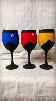 Star Trek Next Generation Inspired Hand Painted by AWhimsicalHoot, $50.00