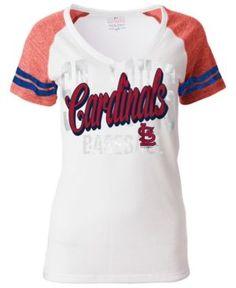 5th & Ocean Women's St. Louis Cardinals White Hot T-Shirt - White