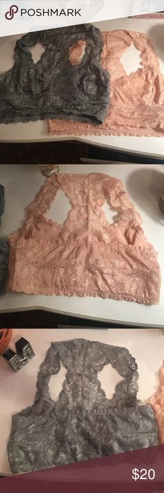 Bundle of 2 Bralettes💗 Never been worn, in perfect condition! One is gray and one is a pinkish-orange color.😄 Intimates & Sleepwear Bras