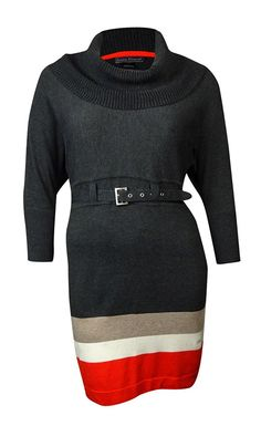 Jessica Howard Women's Belted Cowl Neck Colorblocked Sweater Dress -- Special  product just for you. See it now! : Fashion