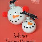 snowman ornament mom and tween